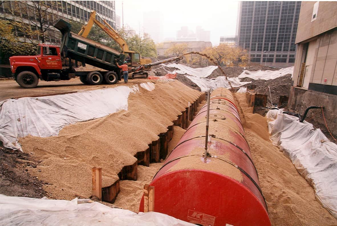 1990s tank installation
